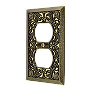 Filigree Single-Duplex Cover Plate (item #R-010AMT-65DX)
