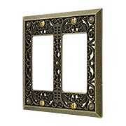Filigree Double-GFI Switch Plate (item #R-010AMT-65RRX)