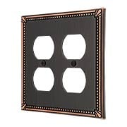 Imperial Bead Double Gang Duplex Cover Plate (item #R-010AMT-74DDX)