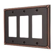 Imperial Bead Triple GFI Cover Plate (item #R-010AMT-74RRRX)
