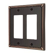 Imperial Bead Double GFI Cover Plate (item #R-010AMT-74RRX)