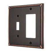 Imperial Bead Toggle/GFI Combination Switch Plate (item #R-010AMT-74TRX)