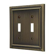 Georgian Double-Toggle Switch Plate (item #R-010AMT-94TTX)