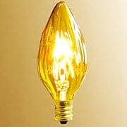 Amber Candelabra Base Light Bulb  - 25 Watt (item #R-010AR-L8135)