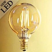 Vintage Style Round Candelabra Base LED Filament Bulb - 2W (item #R-010BR-776506)