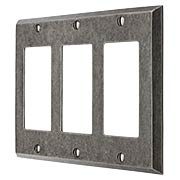 Industrial Triple GFI Cover Plate with Galvanized Finish (item #R-010II-218)