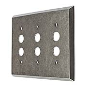 Industrial Triple Push-Button Switch Plate with Galvanized Finish (item #R-010II-294)