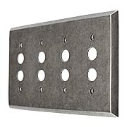 Industrial Quad Push-Button Switch Plate with Galvanized Finish (item #R-010II-295)