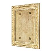 Pisano Double Gang Blank Cover Plate In Unlacquered Brass (item #R-010MG-177X)