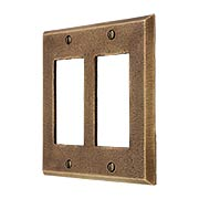 Distressed Bronze Double-Gang GFI Cover Plate (item #R-010MG-258)