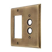 Distressed Bronze Push-Button/GFI Combination Switch Plate (item #R-010MG-262)
