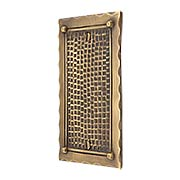 Bungalow Style Single Blank Switch Plate In Solid Cast Brass (item #R-010MG-BGLW-1BX)
