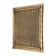 Bungalow Style Double Gang Blank Switch Plate In Solid Cast Brass (item #R-010MG-BGLW-2BX)