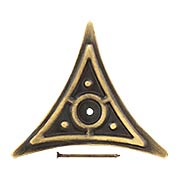 Decorative Brass Dust Corner in Antique-by-Hand (item #R-010MG-DC1-ABH)