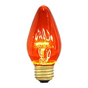 Dark Amber Flame Light Bulb  - 40 Watt (item #R-010PB-47138)