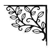 Leafy Branch Cast Iron Shelf Bracket - 7 1/8