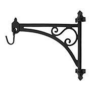 Cast Iron Swing-Arm Plant Hanger in Natural Black (item #R-010SE-2016713)