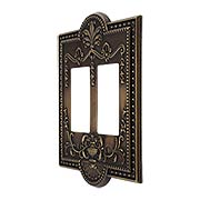 Como Double GFI Cover Plate in Antique-By-Hand (item #R-010SE-286-ABH)