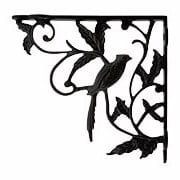 Perched Cardinal Cast Iron Shelf Bracket - 6 3/4