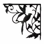 Perched Cardinal Cast Iron Shelf Bracket - 6 3/4