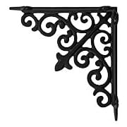 Decorative Scroll Shelf Bracket in Matte Black - 7 7/8