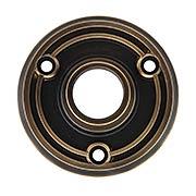 Solid-Brass Doorknob Rosette in Antique-By-Hand (item #R-01BM-8742-ABH)