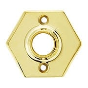 "2 1/2"" Forged Brass Hexagonal Rosette With 21/32"" Collar (item #R-01BM-8876X)"