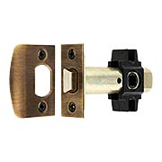 Tubular Passage Latch in Antique-by-Hand - 2 3/8