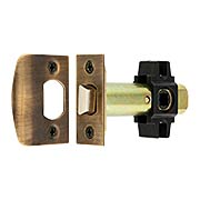 Tubular Privacy Latch in Antique-by-Hand - 2 3/8