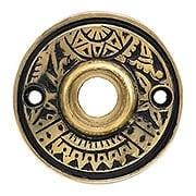"2"" Oriental Pattern Rosette In Solid Cast Bronze (item #R-01CH-390511)"