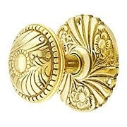 Roanoke Passage Rosette Door Set With Matching Knobs in Unlacquered Brass (item #R-01CH-400404-TL)