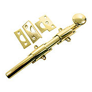 "8"" Traditional Style Surface Door Bolt In Solid Brass (item #R-01DH-8SBX)"