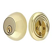 Solid Brass Single Cylinder Regular-Style Deadbolt (item #R-01EM-8450X)