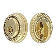 Solid Brass Single Cylinder Rope-Style Deadbolt (item #R-01EM-8464X)