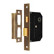 Standard Mortise Lock in Antique-By-Hand - 2 1/4