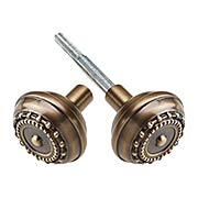 Meadows Design Door Knobs in Antique-By-Hand - 1 Pair (item #R-01NW-712733-ABH)