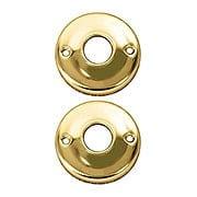 """2"""" Diameter Pressed Brass Rosettes (item #R-01P-205X)"""