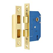 Brass Mortise Lock with Narrow Backset - 1 3/4