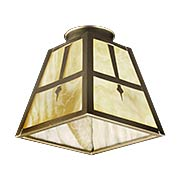 Stained-Glass Arts & Crafts Pyramid Shade with 2 1/4