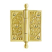 "3 1/2"" Ball-Tip Windsor Pattern Hinge In Solid Brass (item #R-04DE-105X)"