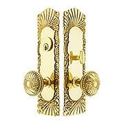 Roanoke Mortise Entry Set In Unlacquered Brass - 2 3/4