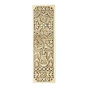 Eastlake Victorian Push Plate In Solid, Cast Brass (item #R-05MG-PP-URN-PB)