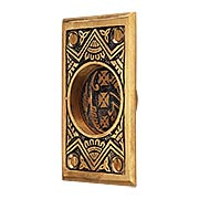 Oriental Pattern Rectangular Pocket Door Pull Without Keyhole (item #R-06CH-1331-US9A)