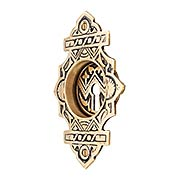 Oriental Pattern Pocket Door Pull With Keyhole (item #R-06CH-1338-US9A)