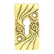 Roanoke Keyhole Escutcheon in Unlacquered Brass (item #R-06CH-390304-031)