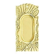 Roanoke Pocket Door Pull in Unlacquered Brass (item #R-06CH-390310-031)