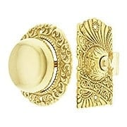 Roanoke Twist Doorbell In Unlacquered Brass (item #R-06CH-390427BELLX)