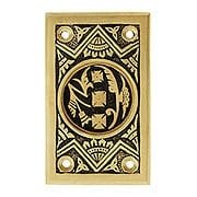 Oriental Pattern Rectangular Pocket Door Pull Without Keyhole (item #R-06CH-390529-NK)