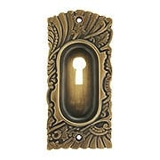 Roanoke Pocket Door Pull With Keyhole in Antique-By-Hand Finish (item #R-06CH-390702-ABH)