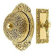 Floral Design Mechanical Door Bell In Solid Brass (item #R-06IH-18055X)